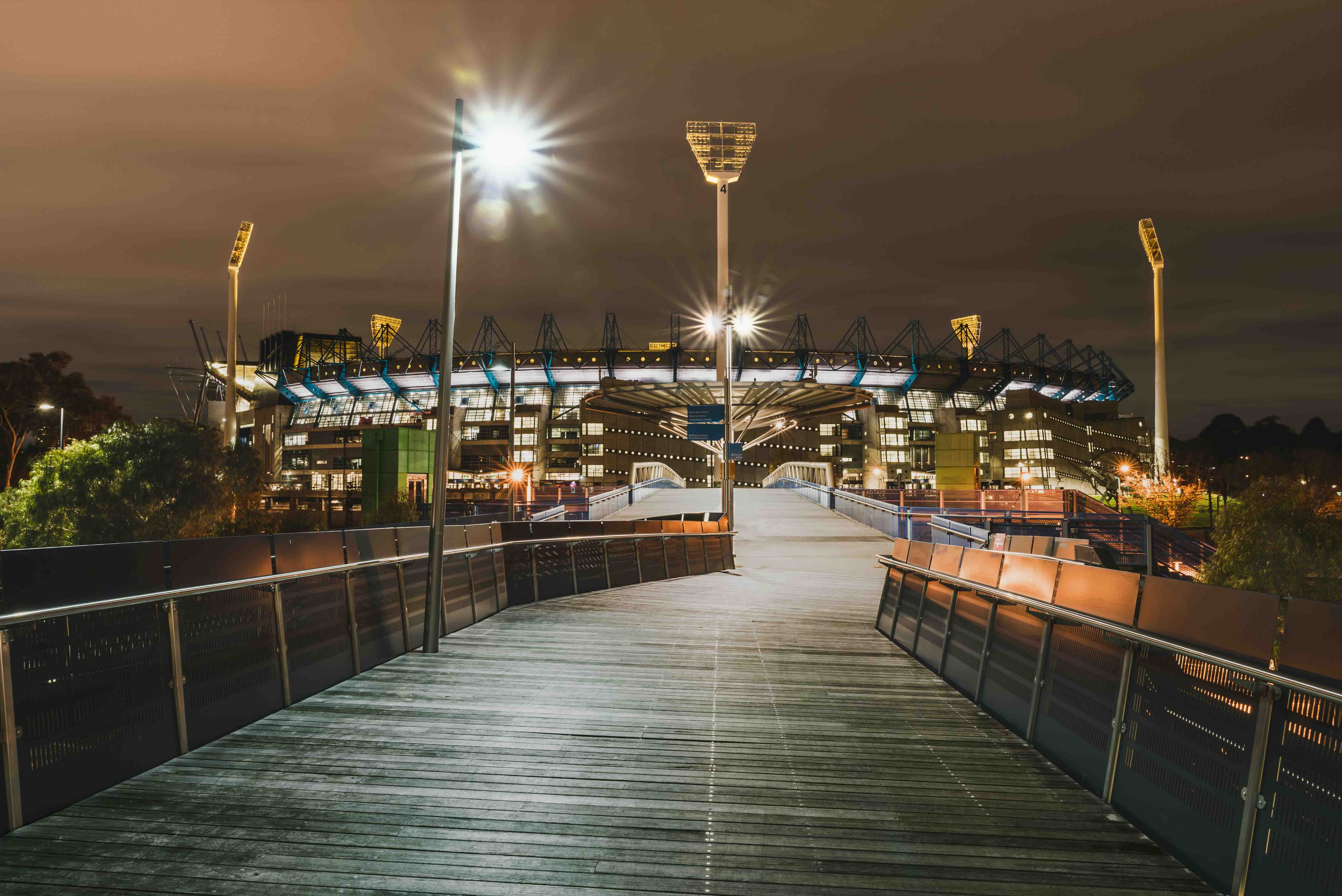 MCG, Melbourne Cricket Ground, Stadium, Long Exposure, Sports Stadium, Melbourne City, Melbourne, Brad Geddes Photography, Melbourne Landscape Photographer, AFL, Football, Cricket, Starburst, Leading Lines, Nightscape
