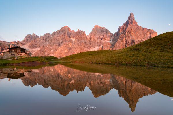Dolomites, Italy, Reflection, Brad Geddes, Brad Geddes Photography, Landscape, Italia, Pale di San Martino, Dolimiti, Mountains