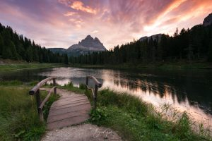Lago Antorno, Dolomites, Dolomiti, Italy, Italia, Lake, Mountains, Sunrise, Brad Geddes Photography