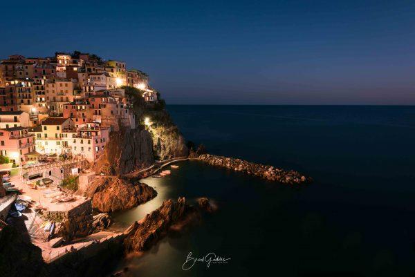 Manarola, Italy, Cinque Terre, Nightscape, Landscape, ocean, fishing town, Italia, Travel Italy, Brad Geddes Photography