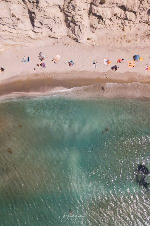 Greece, Aerial, Beach, Water, Brad Geddes, Brad Geddes Photography, Beach Days, Milos