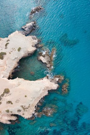 Milos, Aerial, Beach, Firiplaka, Greece, Beach, Blue, Ocean, Landscape, Drone, Brad Geddes, Brad Geddes Photography