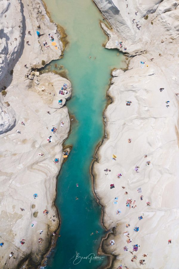 Milos, Beach, Aerial, Birds Eye View, Wall Art, Water, Rock, Brad Geddes, Brad Geddes Photography, Kikladhes, Sarakiniko, Moon Rock, Moon Beach
