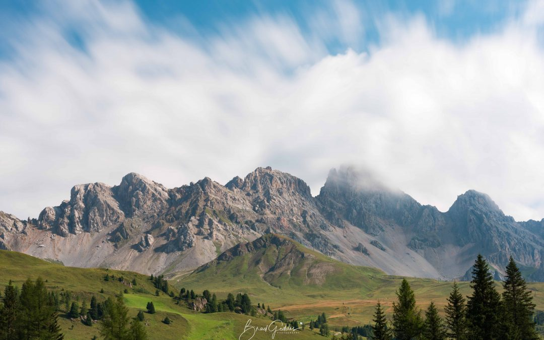 Dolomites, Dolomiti, Italy, Italia, Mountains, San Pallegrino, Long Exposure, Clouds, Brad Geddes Photography