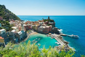 Vernazza, Cinque Terre, Italy, Italia, Europe, Euro, Fishing Town, Ocean, Town, Blue Skys, Brad Geddes Photography
