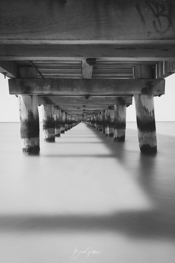 Pier, Long Exposure, Shadow, Black and White, Leading Lines