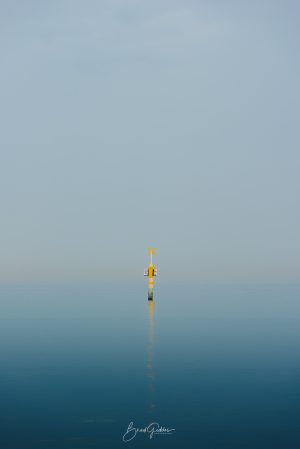 Beach, Ocean, Reflection, Buoy, Seaford