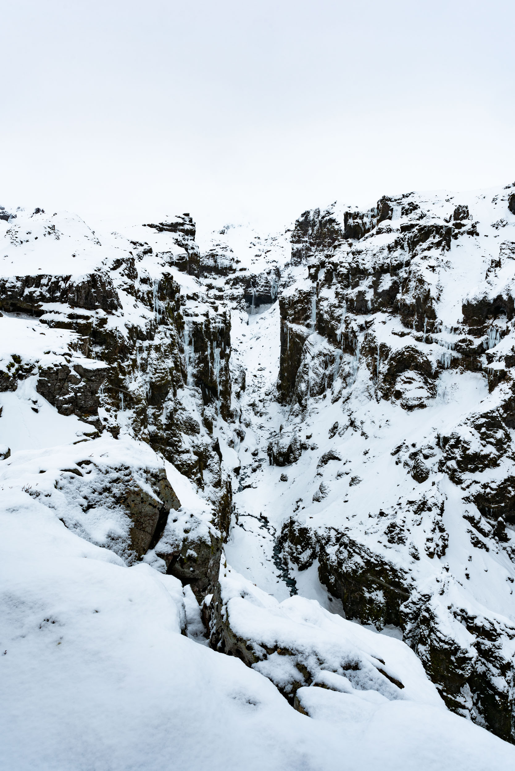 Iceland, Secret Canyon Iceland, Canyon, Winter, Snow, Waterfall, Brad Geddes Photography