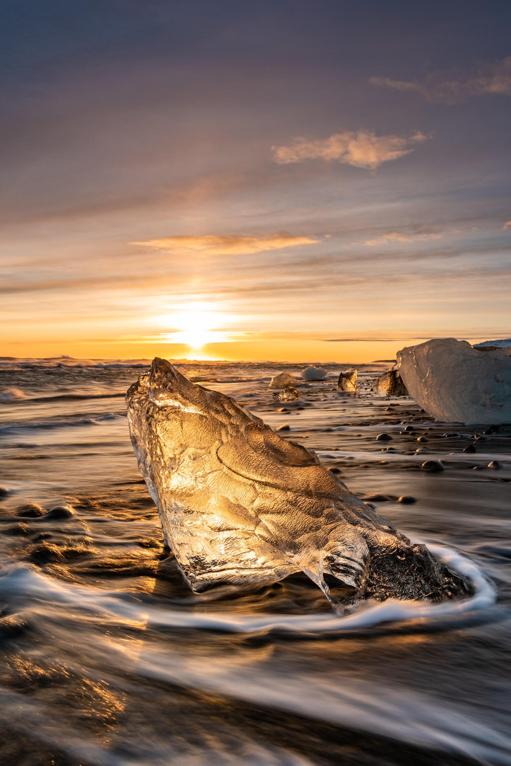 Diamond Beach, Ice Beach, Iceland