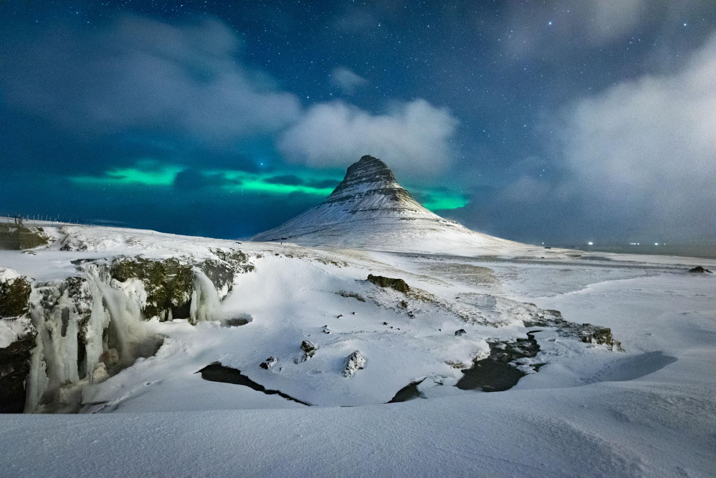 Kirkjufell, Aurora, Iceland, Brad Geddes Photography