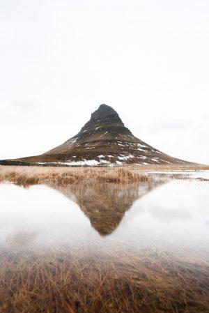 Kirkjufell, Iceland, Kirkjufell Mountain, Reflection