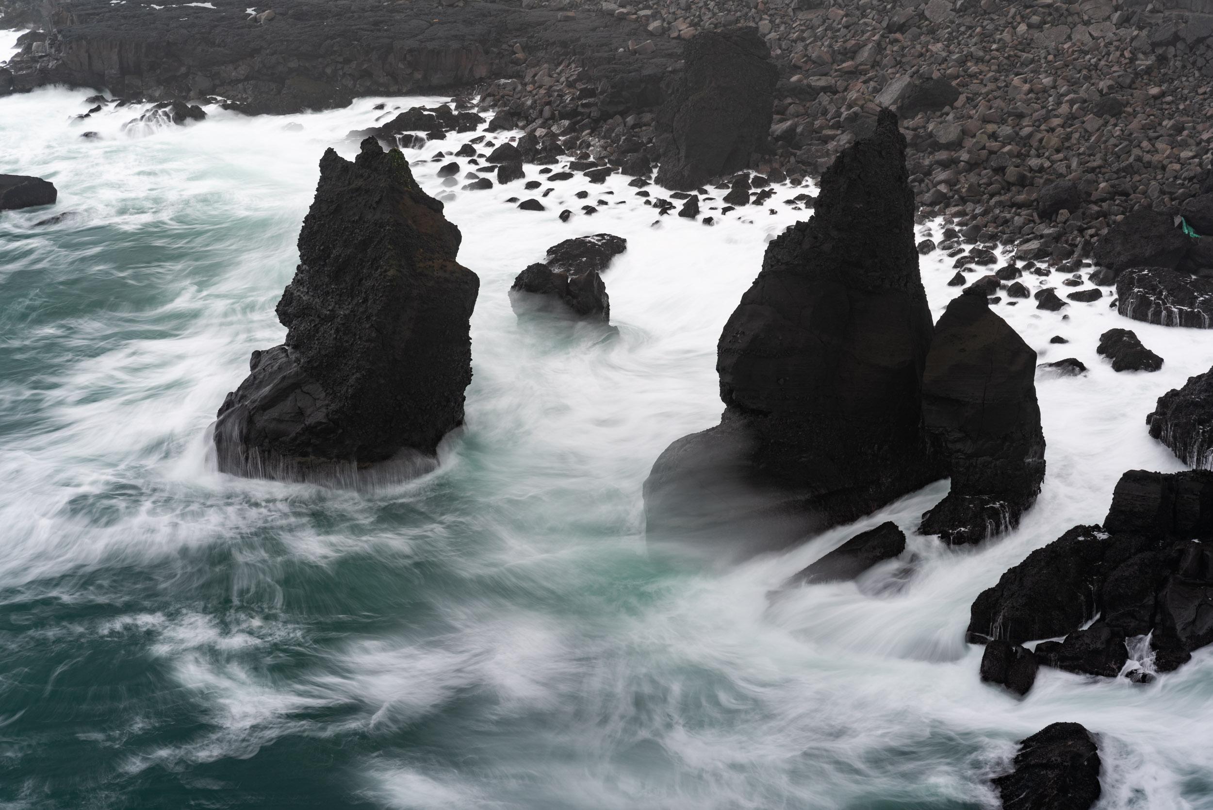 Iceland, Ocean, Waves, Coastline