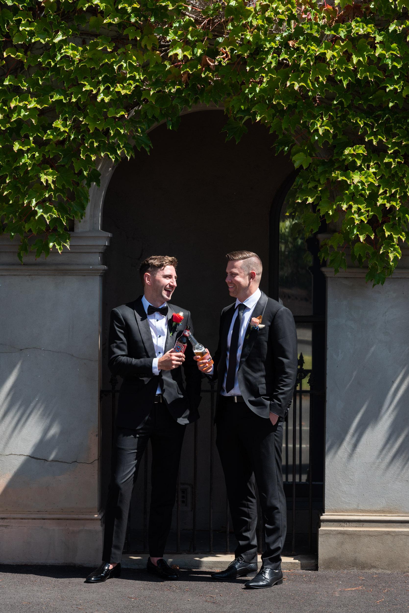 Bridal Shoot, Groom & Best Man, Wedding Suit, Melbourne Wedding, Brad Geddes Photography