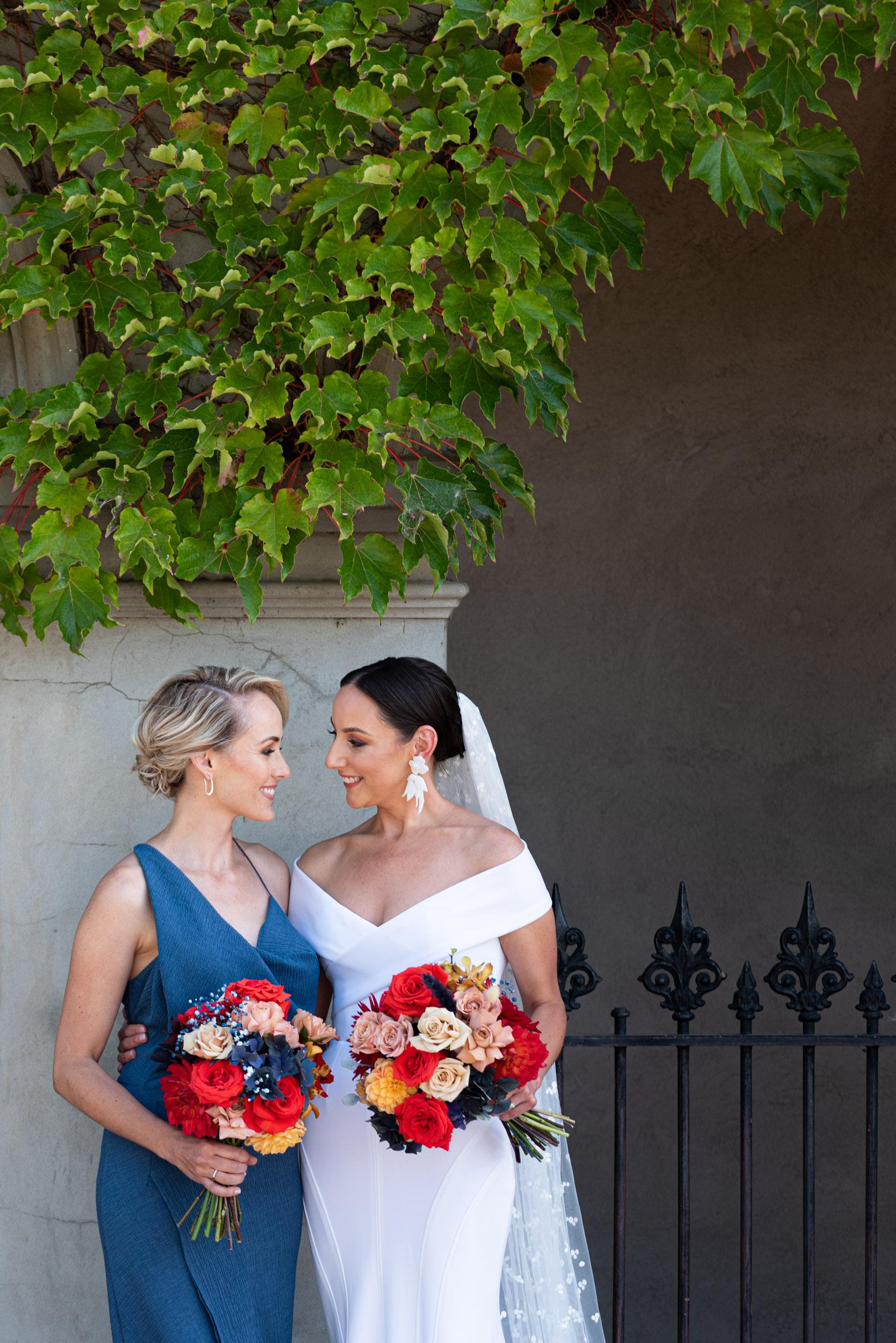 Bride, Bridesmaid, Wedding Day, Wedding Dress, Georgia Young Couture, Love Alfalfa Florals, Melbourne Wedding, Brad Geddes Photography, Wedding Bouquet