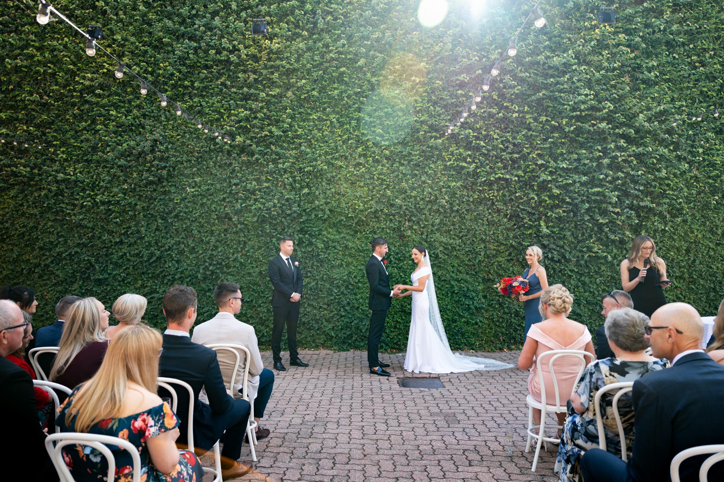Wedding Day, Butler Lane Richmond, Butler Lane by Peter Rowland, Sun flare, Wedding ceremony, Melbourne Wedding