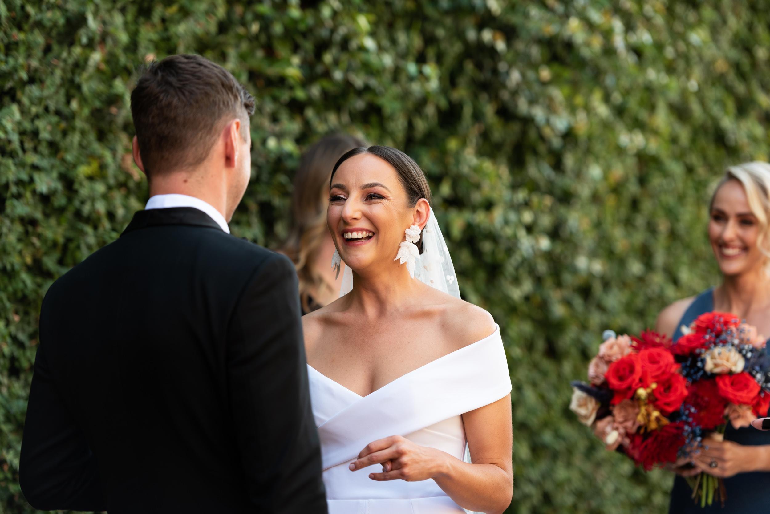 Wedding, Wedding Day, Wedding Ceremony, Butler Lane Richmond, Bride, Happy, Love Alfalfa Florals