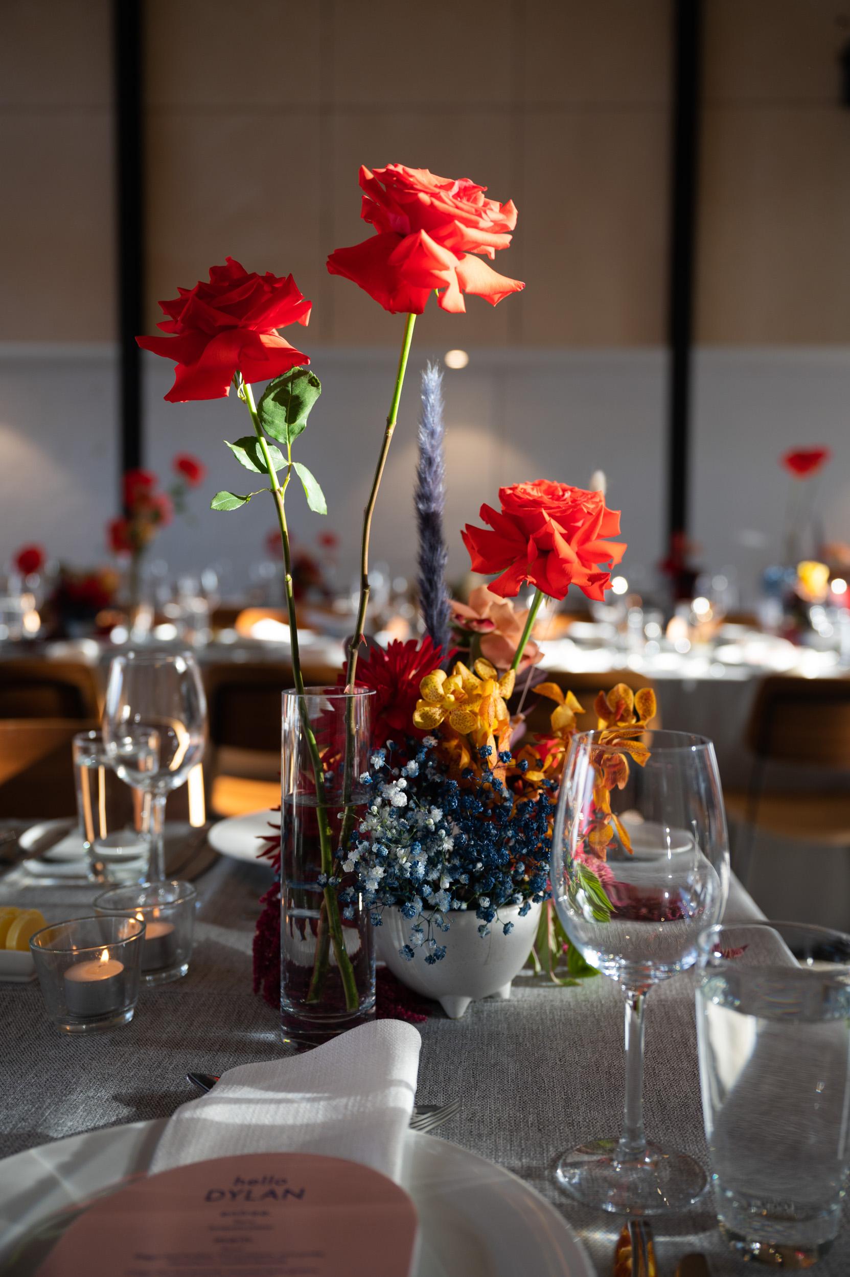 Wedding, Melbourne Wedding, Wedding Reception, Table Decorations, Love Alfalfa Florals, Flowers, Butler Lane
