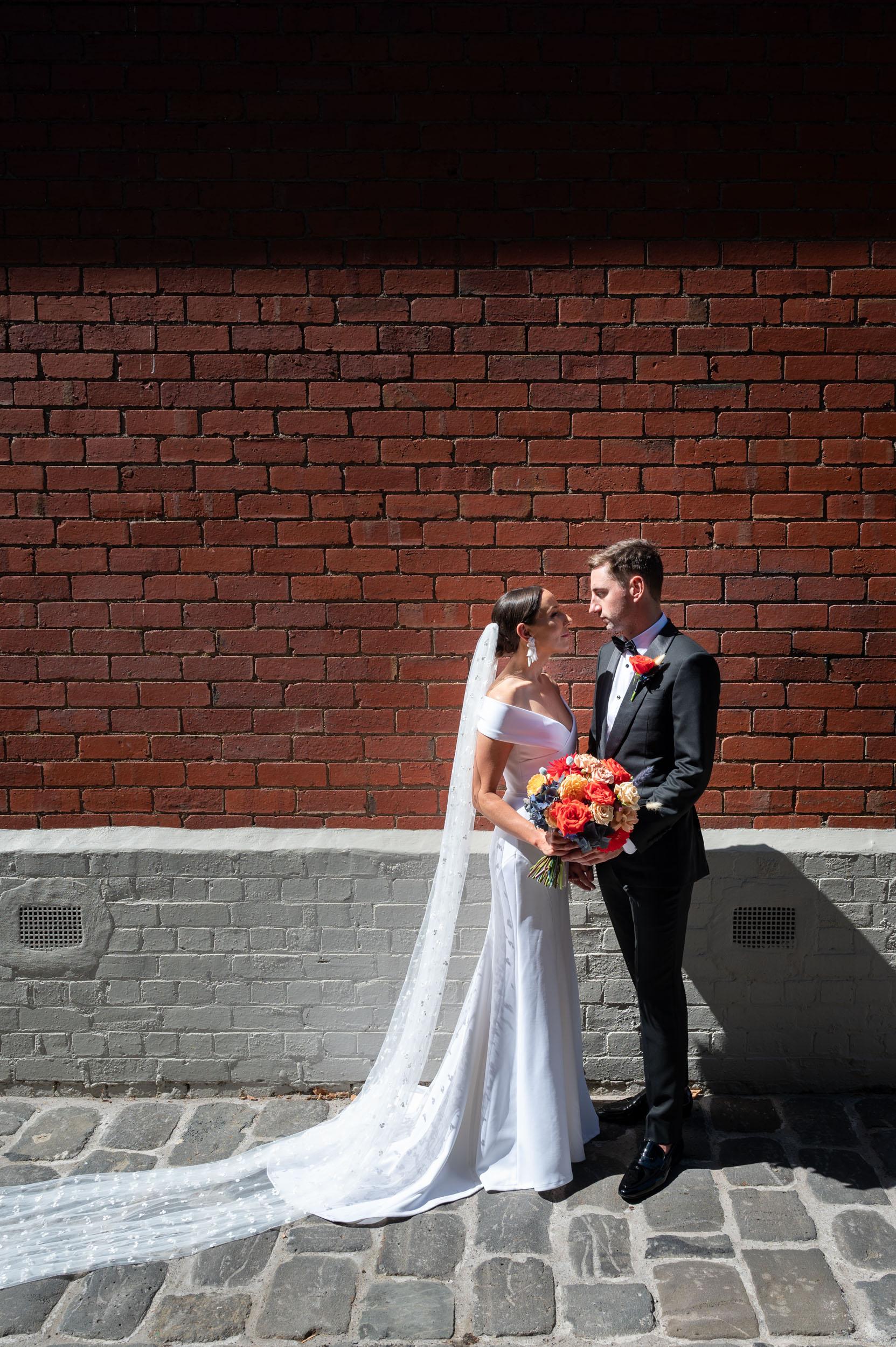 Wedding, Bridal Shoot, Bride & Groom, Wedding Bouquet, Georgia Young Couture, Lover Alfalfa Florals, Melbourne Laneway, Melbourne Wedding, Brad Geddes Photography